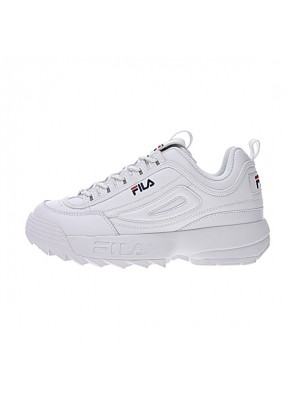 FILA Disruptor II 2 sneaker men and women running shoes white blue logo