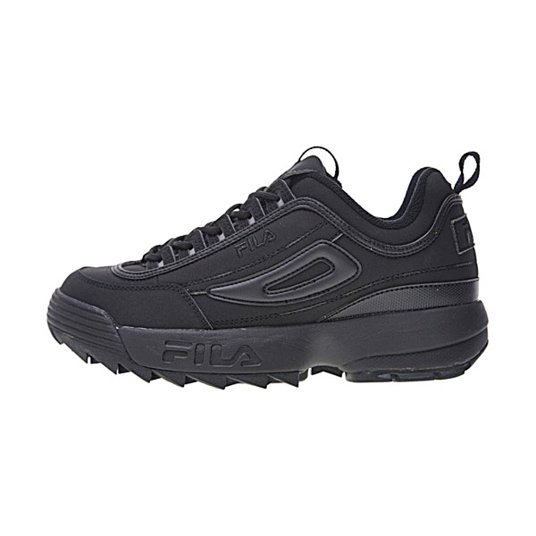 FILA Disruptor II 2 sneaker men and women running shoes triple black logo