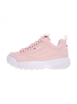 FILA Disruptor II 2 sneaker women's running shoes cherry pink white logo