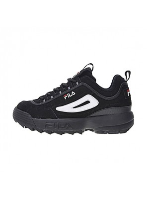 FILA Disruptor II 2 sneaker men and women running shoes black and white