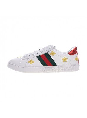 Gucci Ace Embroidered Low-Top sneaker men and women casual shoes bee star