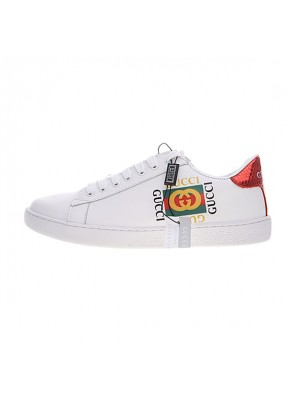 Gucci Ace Embroidered Low-Top sneaker men and women casual shoes square logo