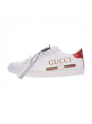 Gucci Ace Embroidered Low-Top sneaker men and women casual shoes long logo