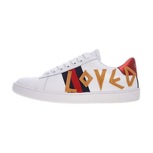 Gucci Ace Embroidered Low-Top sneaker women's causal shoes white LOVED
