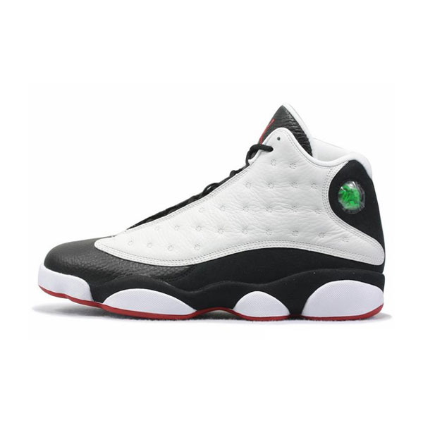 Limited Air Jordan 13 Retro He Got Game men's basketball shoes black white