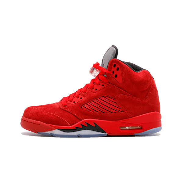 Limited Air Jordan 5 Retro Red Suede Flight Suit sneaker men's basketball shoes