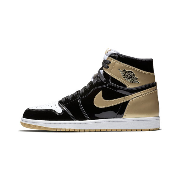 Air Jordan 1 Retro High OG NRG Gold Top 3 men's basketball shoes black gold
