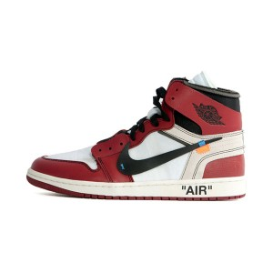 Off White x Nike Air Jordan 1 The Ten sneaker men's sports shoes Chicago red