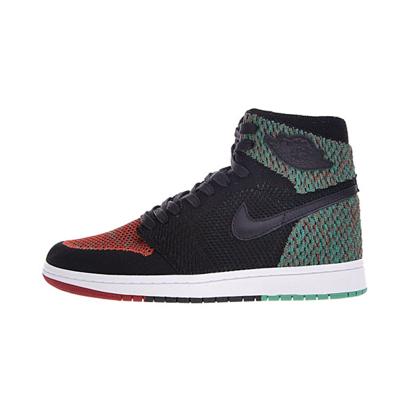 Air Jordan 1 Retro High Flyknit BHM sneaker men's basketballs shoes black red