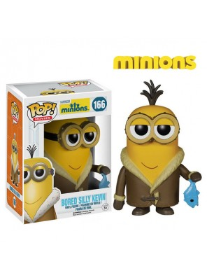 Original funko pop despicable me minions dolls bored silly kevin model toys