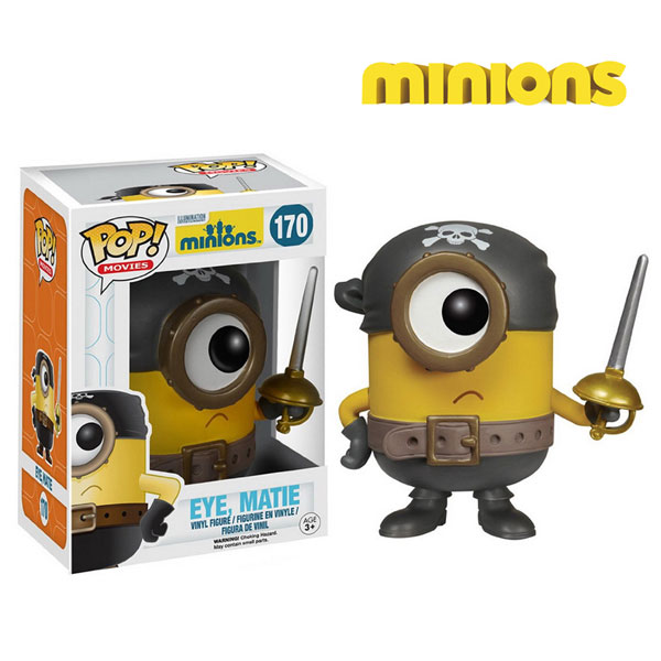 Original funko pop despicable me minions dolls eye matie classic model toys