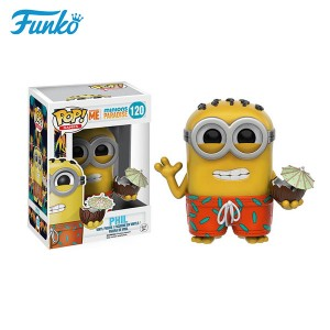 Original funko pop despicable me minions phil toys trend collection dolls