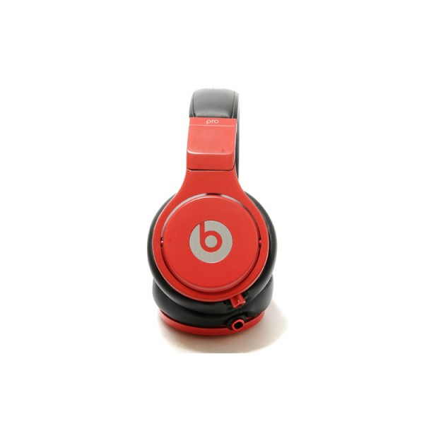 Classic edition monster beats studio pro headphones over-ear black red