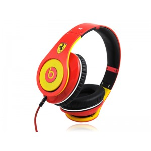 Ferrari Limited Edition Monster Beats by Dre Studio Headphones red yellow