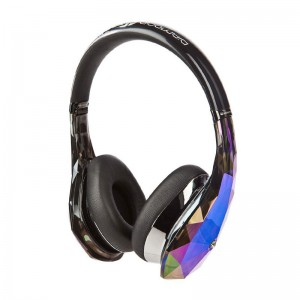 Monster Diamond Tears Edge On-Ear Headphones with microphone black