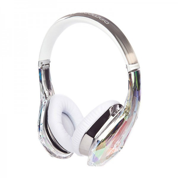 Monster Diamond Tears Edge On-Ear Headphones with microphone crystal