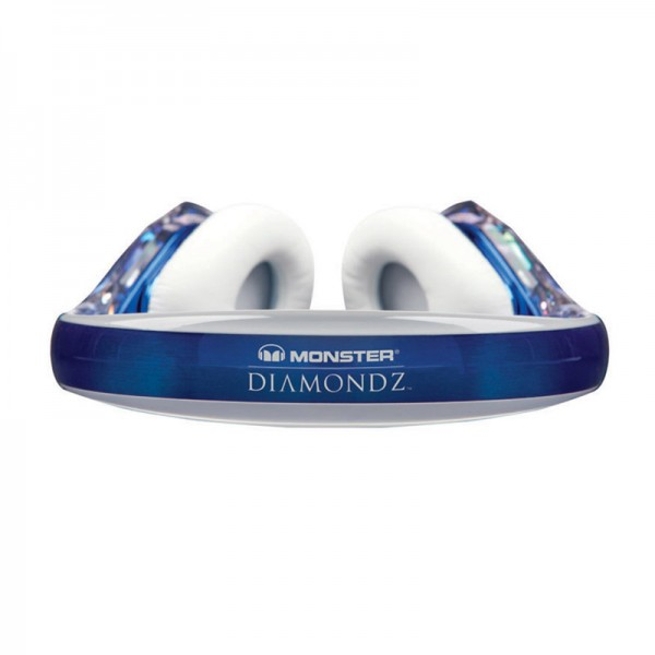 Monster Diamond Tears Edge On-Ear Headphones with microphone blue