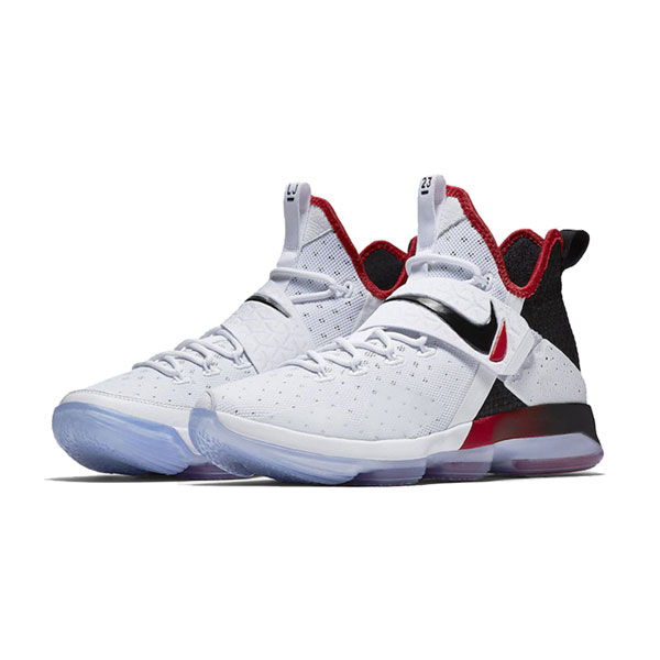timeless design 83e13 d574e Nike LeBron 14 White Black Men s Basketball Shoes