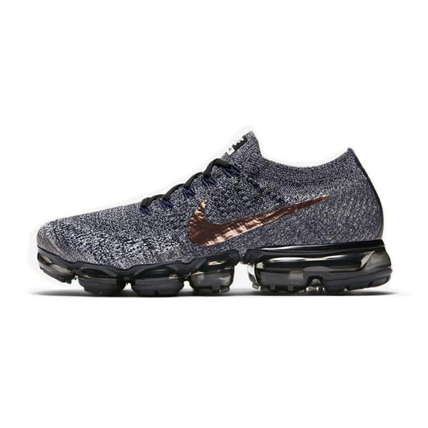 Nike wmns air vapormax flyknit explorer dark men's running shoes grey black gold