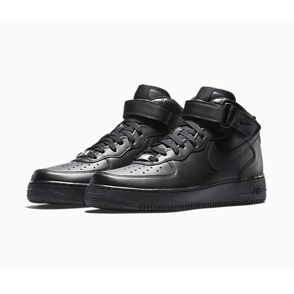 Nike Air Force 1 Mid '07 Leather sneakers men and women skate shoes black/black