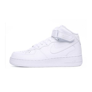 Nike Air Force 1 Mid '07 Leather sneakers men and women skate shoes white/white