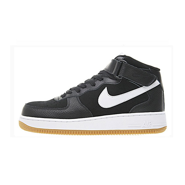 Limited Nike Air Force 1 Mid '07 Leather sneakers men's skate shoes black/white