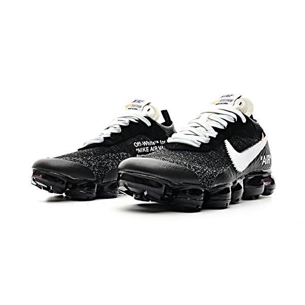 OFF WHITE x Nike air vapormax flyknit men and women running shoes black