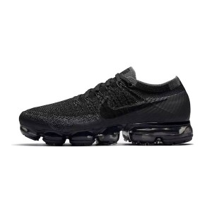 Nike air vapormax flyknit triple black sneakers men and women running shoes