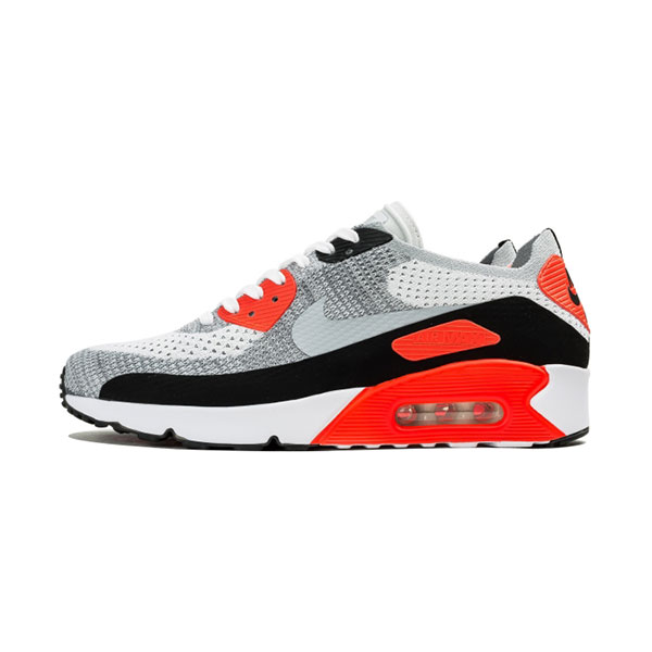 Nike Air Max 90 Ultra 2.0 Flyknit men's running shoes white/bright crimson