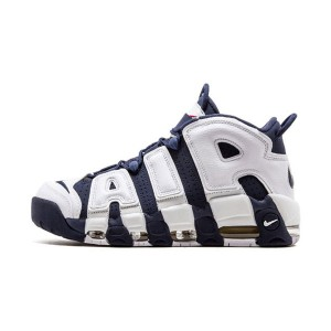Nike air more uptempo og olympic sneakers men's basketball shoes blue white