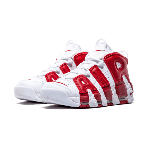 Nike air more uptempo varsity red sneakers men's basketball shoes white red