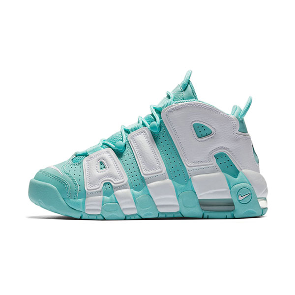 Nike air more uptempo gs Island green white casual women's basketball shoes