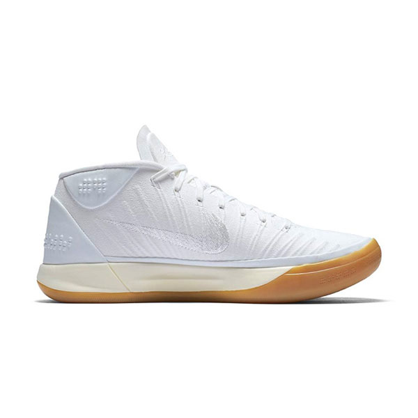 Nike Kobe A.D Mid mamba mentality baseline men's basketball shoes core white