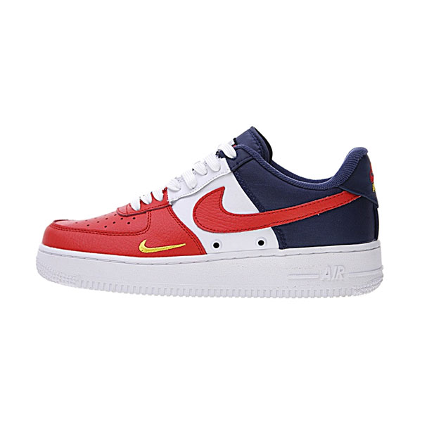 cc61543ea157 Nike Air Force 1 Low 07 LV8 mini swoosh usa release date sports shoes white  red blue