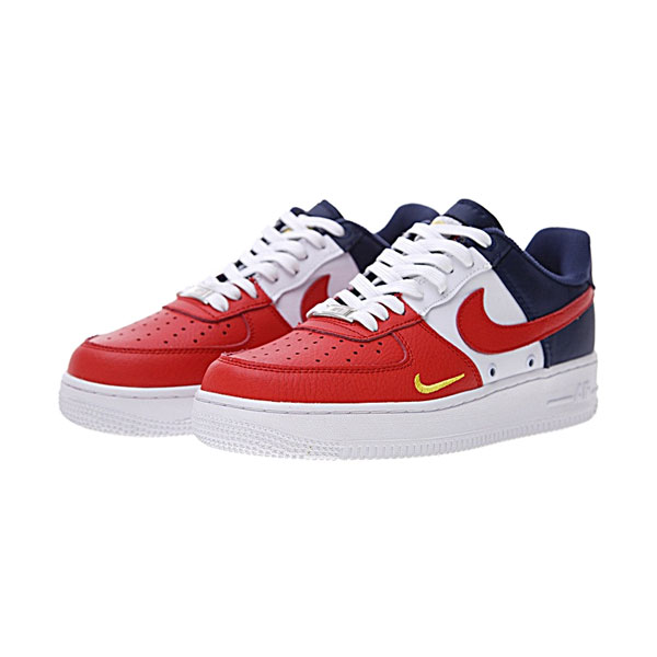 brand new 55e63 2a198 Nike Air Force 1 Low 07 LV8 mini swoosh usa release date sports shoes white  red blue