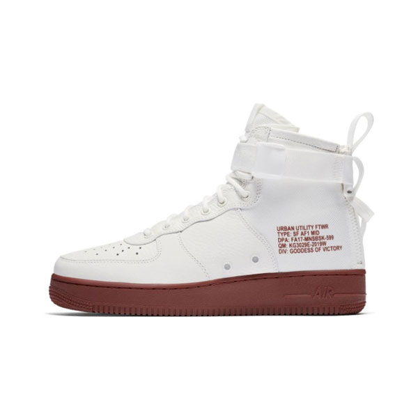 New Nike SF Air Force 1 Mid Mars Stone sneakers men's sports shoes white red