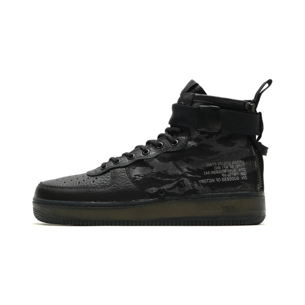 New Nike SF Air Force 1 Mid Tiger Camo sneakers men's sports shoes core black