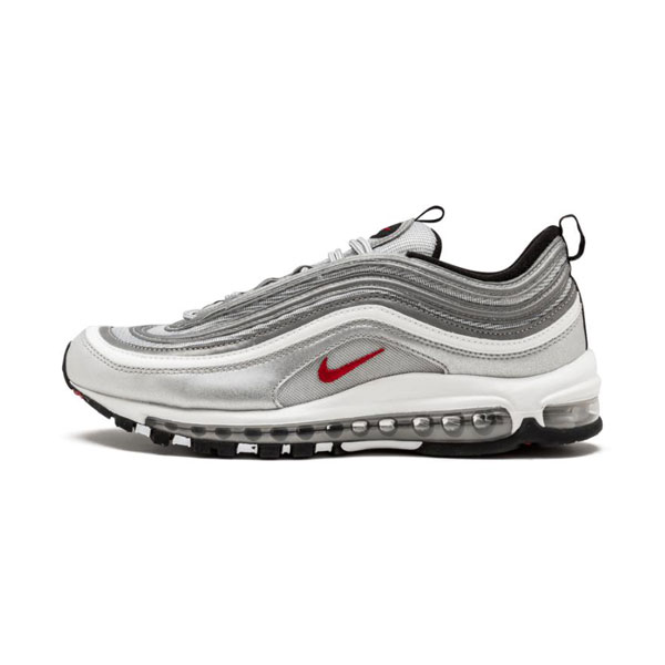 Limited Nike Air Max 97 OG QS sliver bullet sneakers men and women running shoes