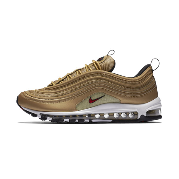Limited Nike Air Max 97 OG QS metallic gold sneakers men and women running shoes