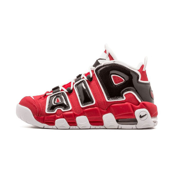 Nike air more uptempo asia hoop pack sneakers men's basketball shoes red black