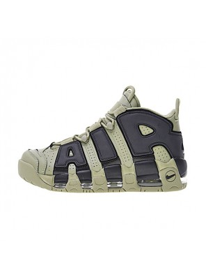 Nike air more uptempo dark stucco sneakers men and women basketball shoes green