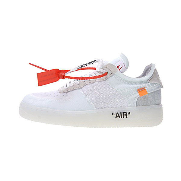 Limited Off White x Nike Air Force 1 Low Ghosting men and women sneakers white