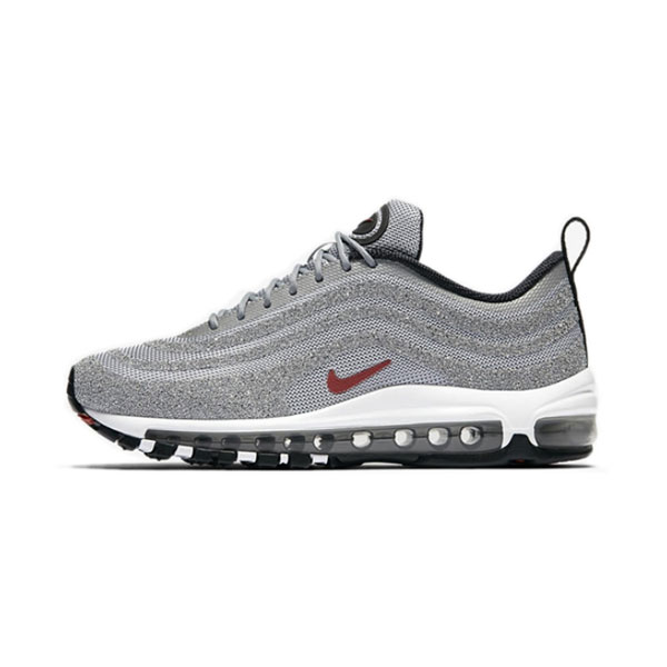 Limited Nike Wmns Air Max 97 LX Swarovski men and women sneakers silver bullet