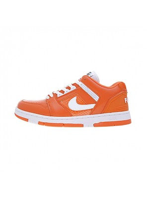 Supreme x Nike SB Air Force 2 Low Orange Blaze men and women plate shoes