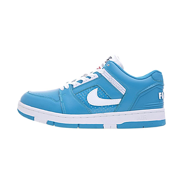 Supreme x Nike SB Air Force 2 Low Jade Blue men and women plate shoes