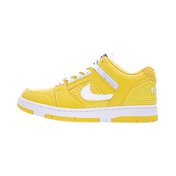 Supreme x Nike SB Air Force 2 Low Varsity Maize men and women plate shoes
