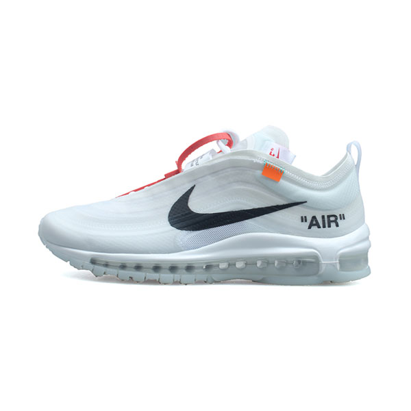 Limited Off White x NIKE Air Max 97 The Ten men and women running shoes white