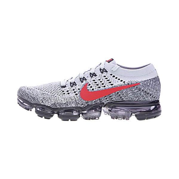 Nike Air VaporMax Flyknit sneaker men and women running shoes wolf grey red