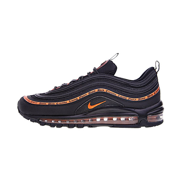 VLONE x NIKE Air Max 97 OG bullet sneakers men's running shoes black orange