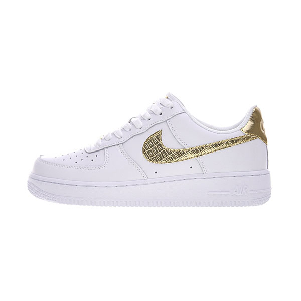 bb19784b2f9 Cristiano Ronaldo x Nike Air Force 1 Low CR7 Golden Patchwork sneakers white